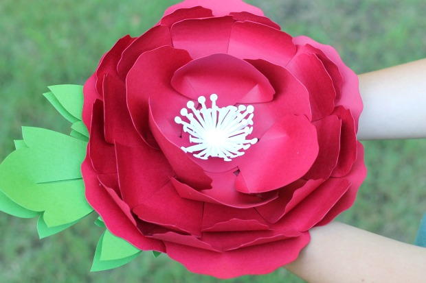 Ginger Snap Crafts: Peony Paper Flower + Cricut EasyPress