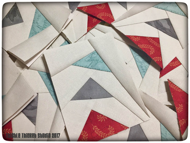Thistle Thicket Studio, flying geese block, paper piecing, wavy flying geese, quilts, quilting