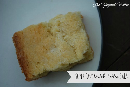 Amazing Dutch Letter Bars Recipe   The Gingered Whisk
