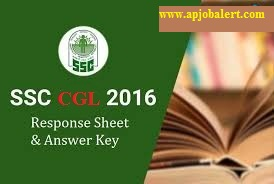 Staff Selection Commission -SSC CGL 2016- Candidate's Response sheets and Answers