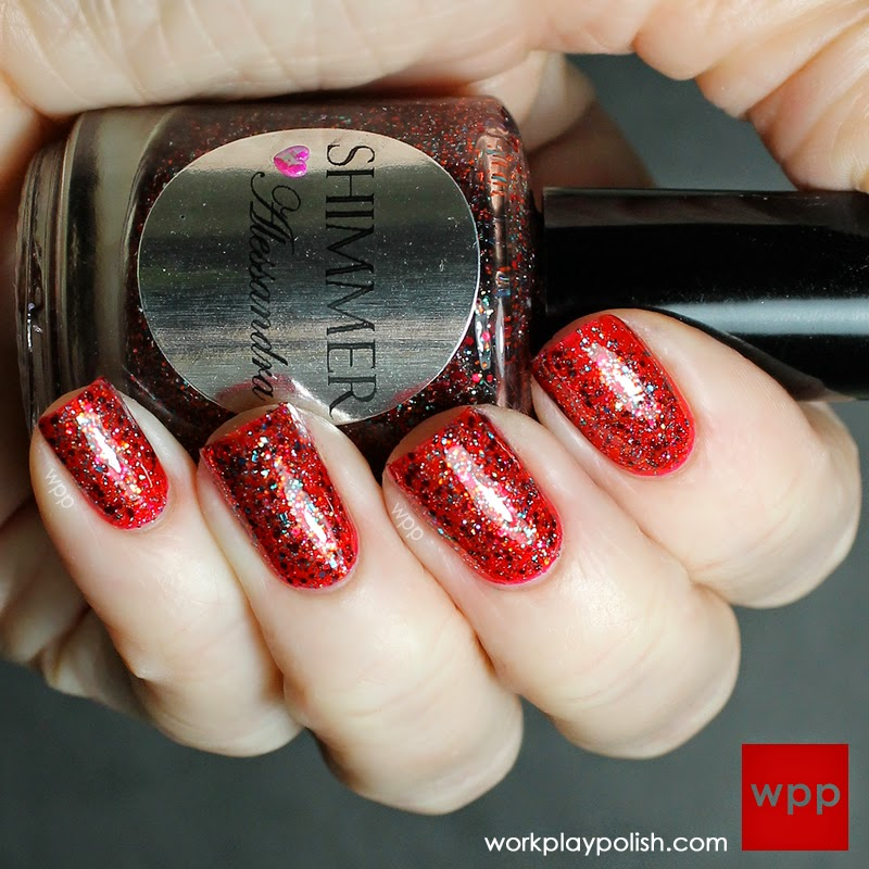 Shimmer Alessandra over OPI The Spy Who Loved Me