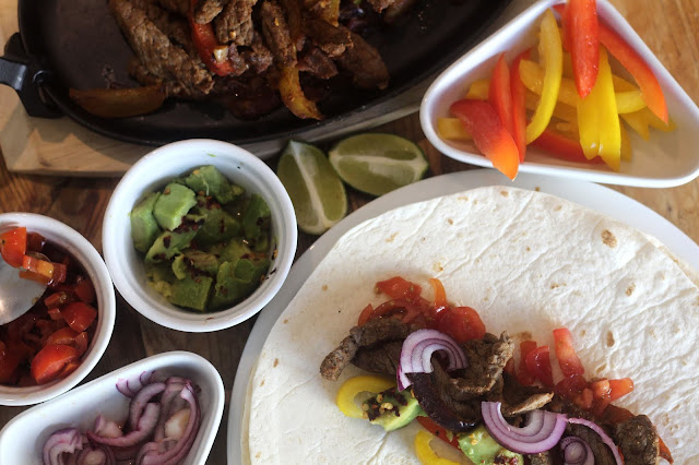 making beef fajitas