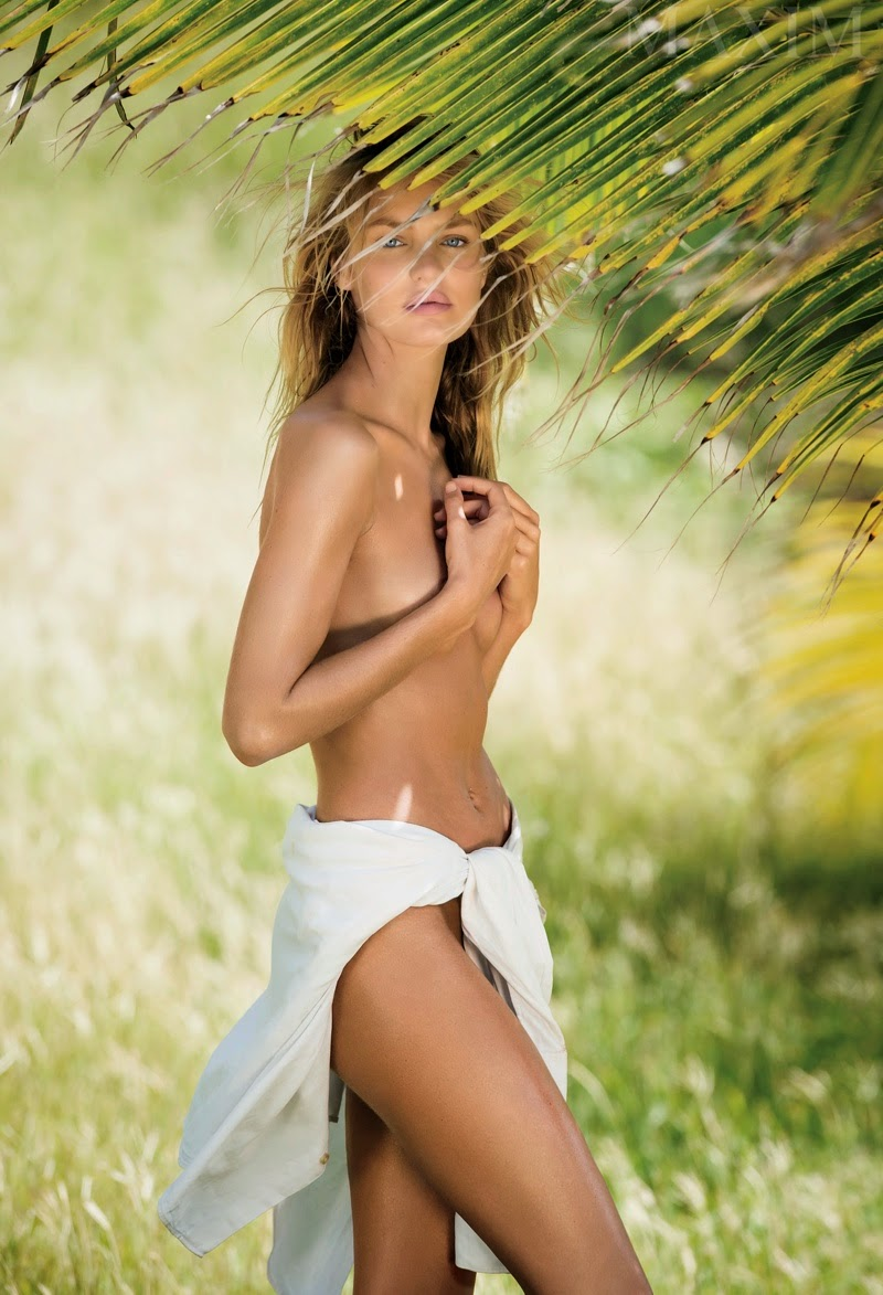 Candice Swanepoel goes nude for Maxim magazine's March 2015 issue