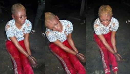 Beautiful Female Student Caught & Tied After Stealing Her Friend's N250,000 (Photos)
