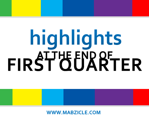 Blog Exposed: Highlights for the first quarter of 2013