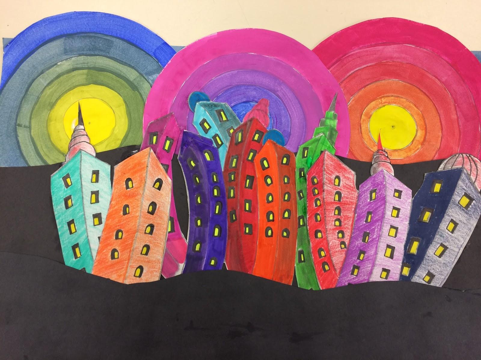 The Helpful Art Teacher Drawing A Dr Seuss Inspired City