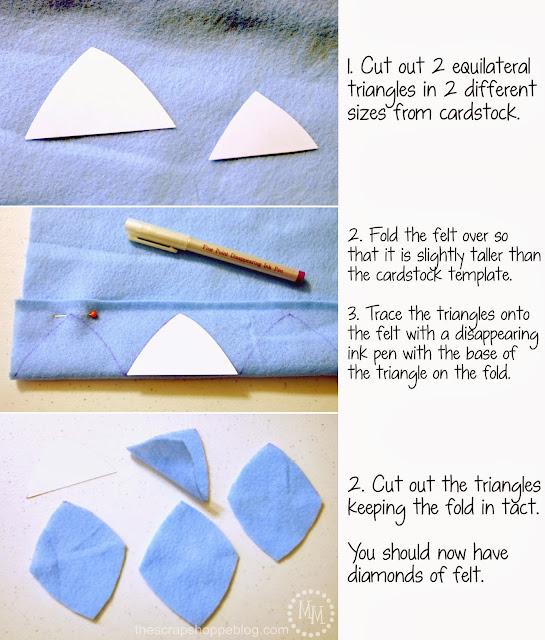DIY Dinosaur Jackets - cutting triangles