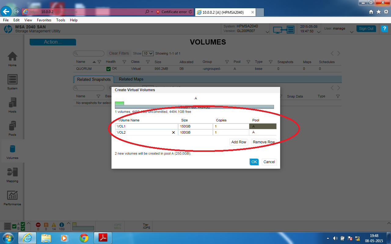 IT Solution: How to configure HP SAN storage MSA 2040 step by step