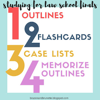studying for finals in law school | brazenandbrunette.com