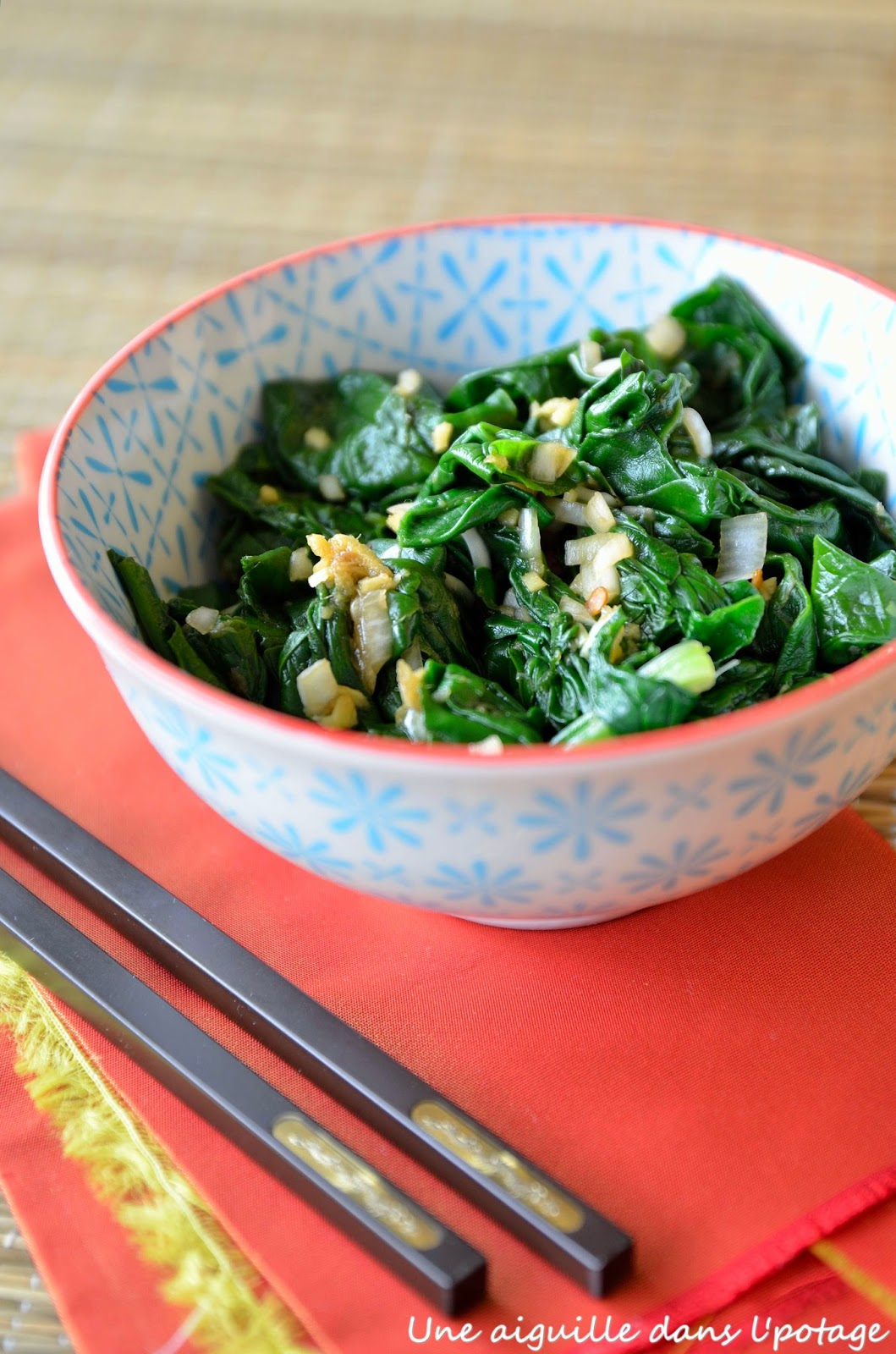 spinach ken hom recipe