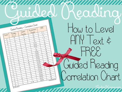 FREE Guided Reading Correlation Chart & How to Level ANY Text. TeacherKarma.com