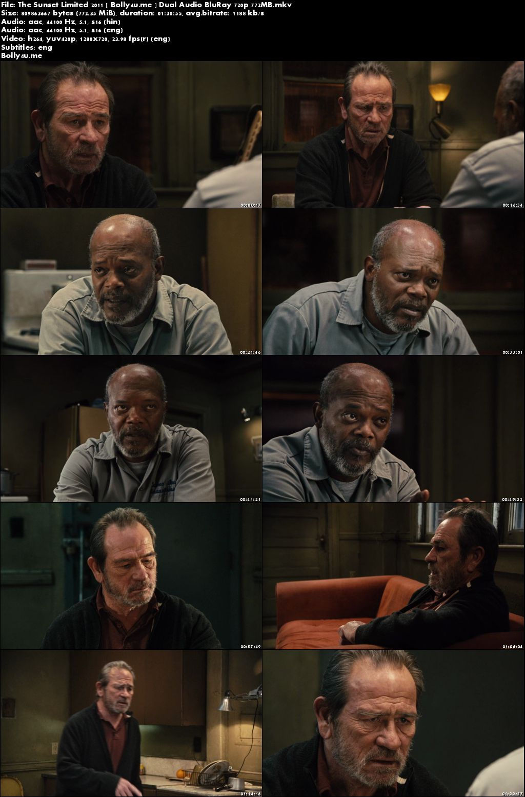 The Sunset Limited 2011 BluRay 300MB Hindi Dual Audio 480p Download