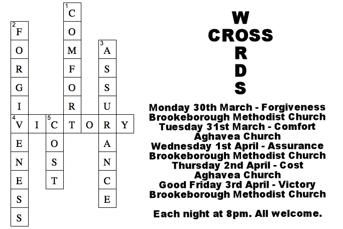 Aghavea Parish Church: Notices: Palm Sunday 29th March 2015
