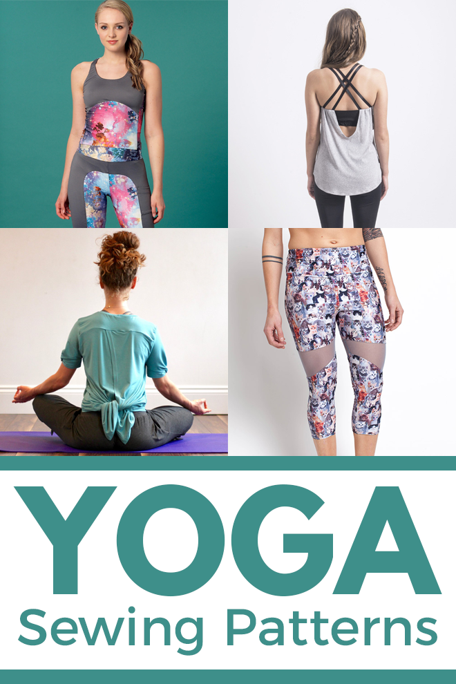Review four sewing patterns for yoga clothes, side by side! Patterns under consideration include: McCall's M7446; Papercut Patterns' Pneuma bra/top and Oh La La leggings; Seamwork's Aires leggings and Rio top; and Fehr Trade's Knot-Maste top and bottoms. Choose your yogi style and get sewing!