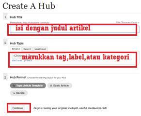 Cara membuat backlink pada hubpages melalui posting