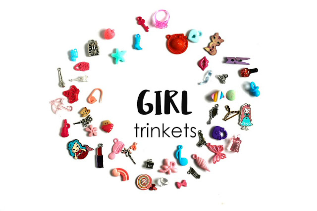 Girl Theme I Spy trinkets by TomToy