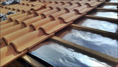 manta termica no telhado