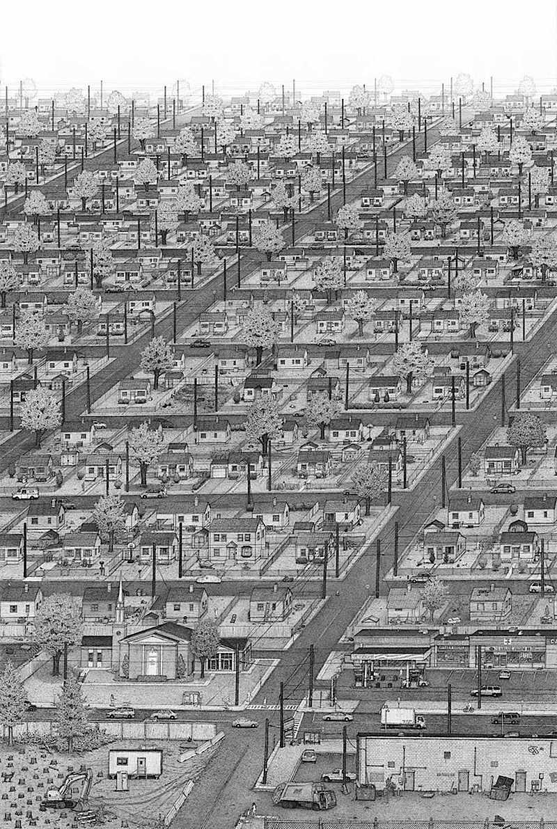 Ben Tolman art suburbs