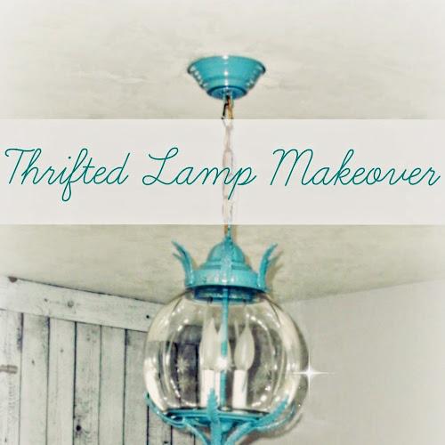 Master Bedroom Redo - Thrifted Lamp Redo