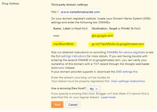 cara setting domain namecheap ke blogspot, cara pasang domain di blogspot, cara mengganti domain blogspot ke domain sendiri