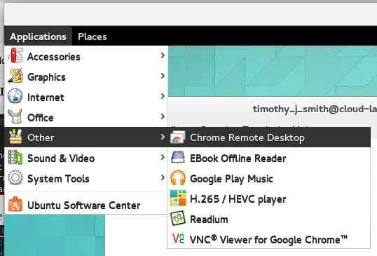Cloud Workstation Howto: Chromebook + Chrome Remote Desktop