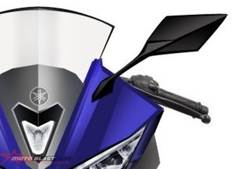 Desain headlight Yamaha YZF R15 versi 2017 nantinya akan mirip dengan headlight Yamaha YZF R25 ?
