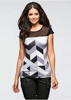 Bluză sofisticată cu aspect simplu de tricou (bonprix)