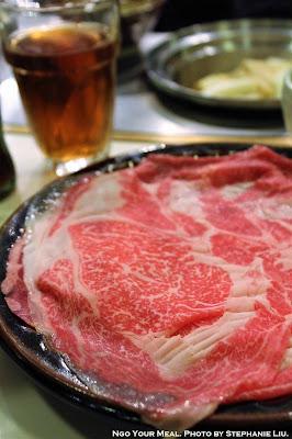 Kuroge Wagyu Beef (Kuroge Wagyu Beef Sukiyaki Set) at Shabusen in Tokyo, Japan