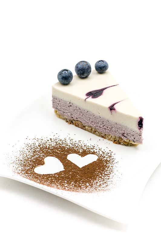 Raw blueberry lime cake en kos
