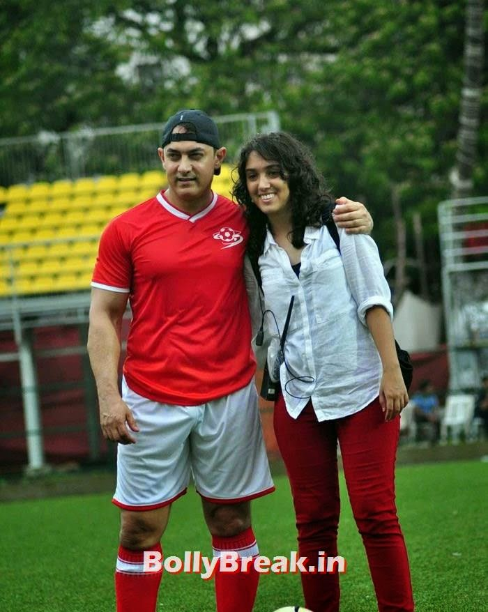 Aamir Khan,  Ira Aamir Khan, Bollywood Celebs play football match for Aamir khan's daughter Ira Khan