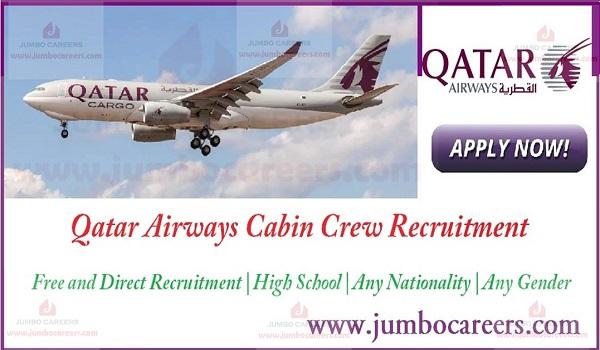Qatar Airways Cabin Crew Recruitment 2018-2019 High School Pass Jobs