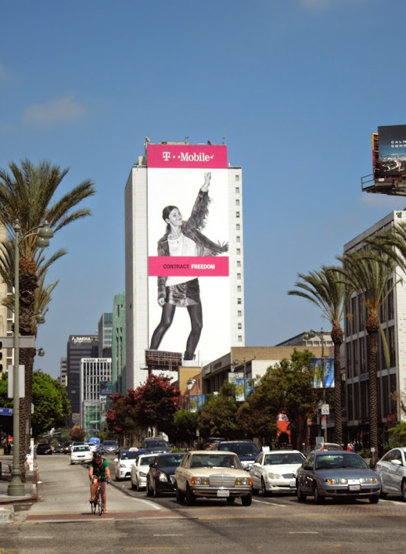 Giant T-Mobile Contract Freedom billboard Koreatown