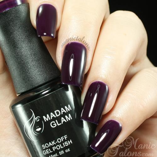 Madam Glam UV Gel 291 Deep Dark Purple Swatch