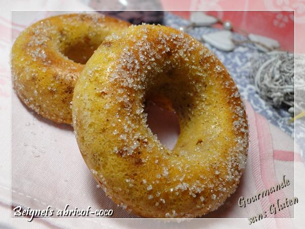 Beignets abrico-coco sans gluten, au four