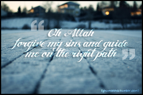 Oh Allah forgive my sins - quote