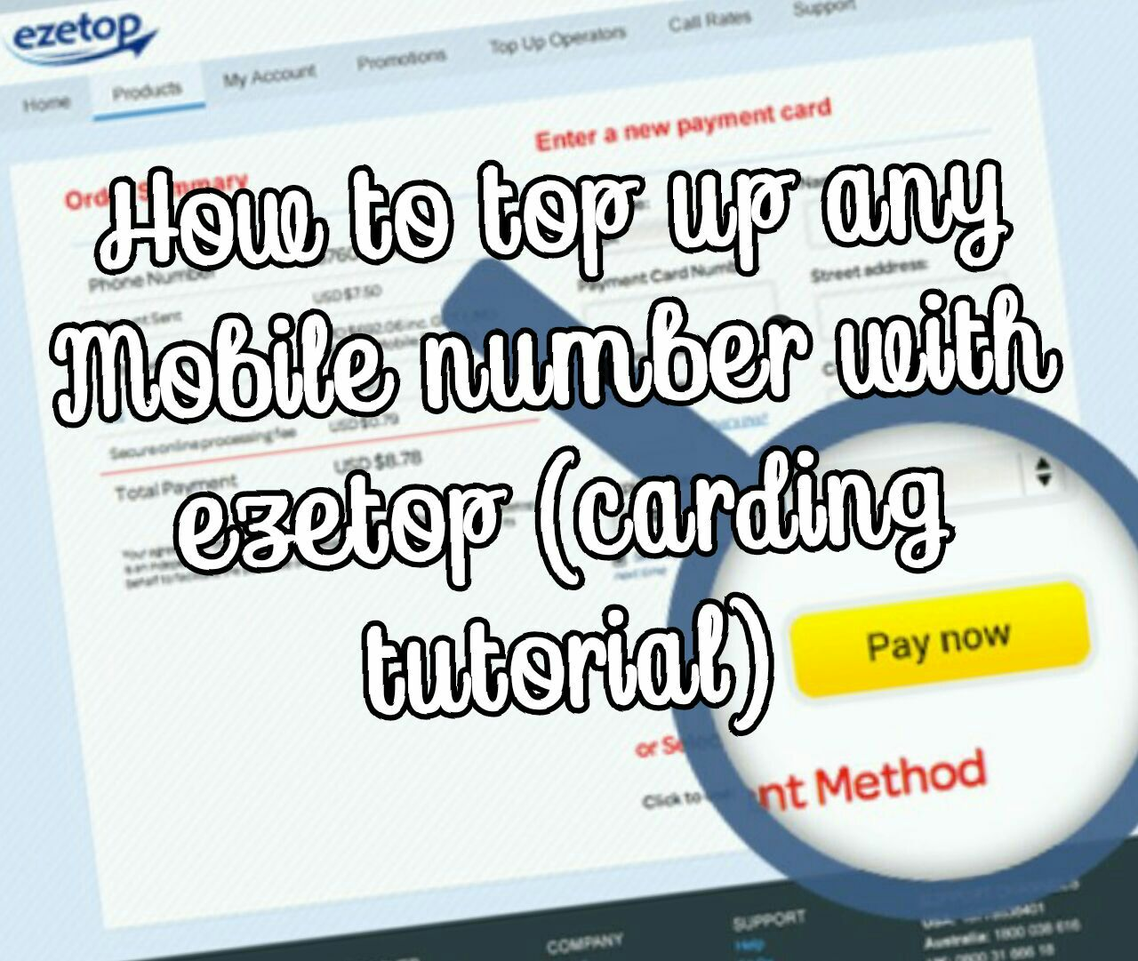 How to top up any Mobile Number Worldwide With Ezetop