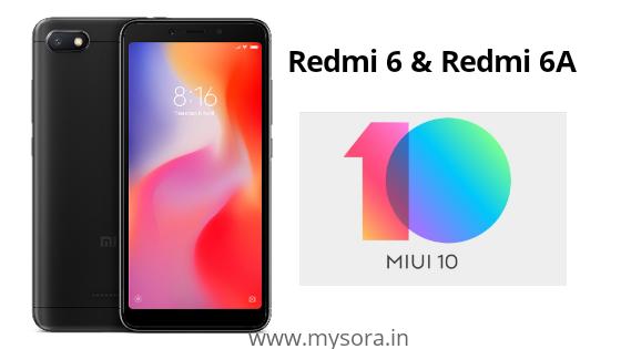 Xiaomi Redmi 6 and Redmi 6A Starts Getting MIUI 10 update, Check