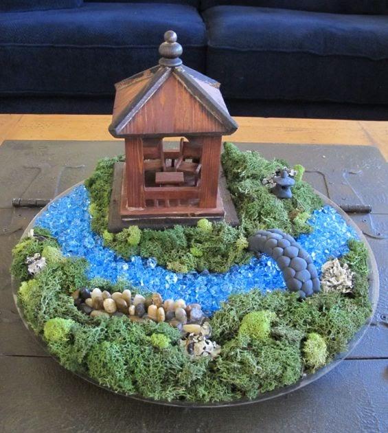 Wind rose fiber studio miniature japanese garden show - How to make a japanese garden ...