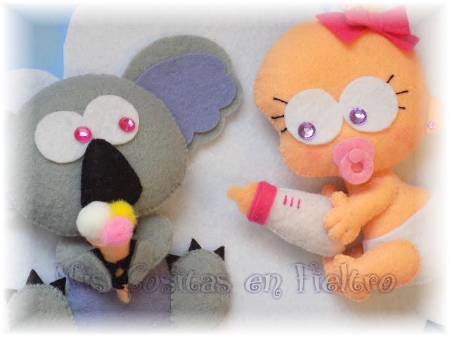 bebé, decoración, baby, animal, cloud, felt, fieltro, nube, adorno de fieltro, niños, habitación, koala
