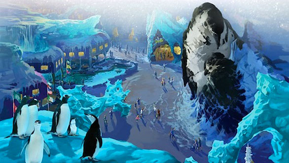 Antarctica Empire of the Penguin no Sea World em Orlando