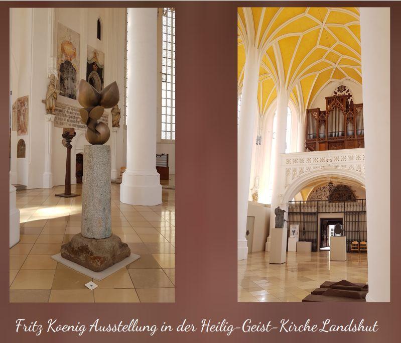 Fritz Koenig in der Heilig-Geist-Kirche in Landshut