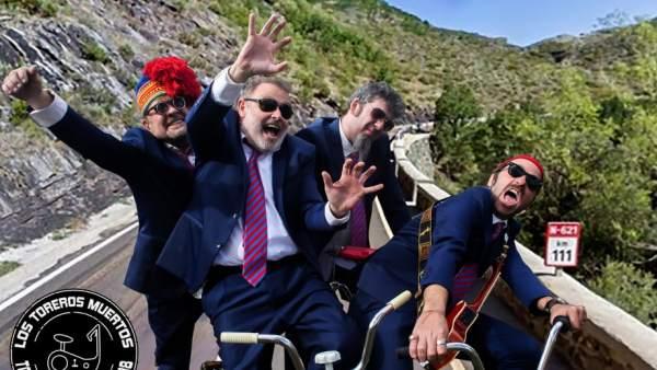 Imagen promocional del tour 'Bicicleta Estática' de Los Toreros Muertos