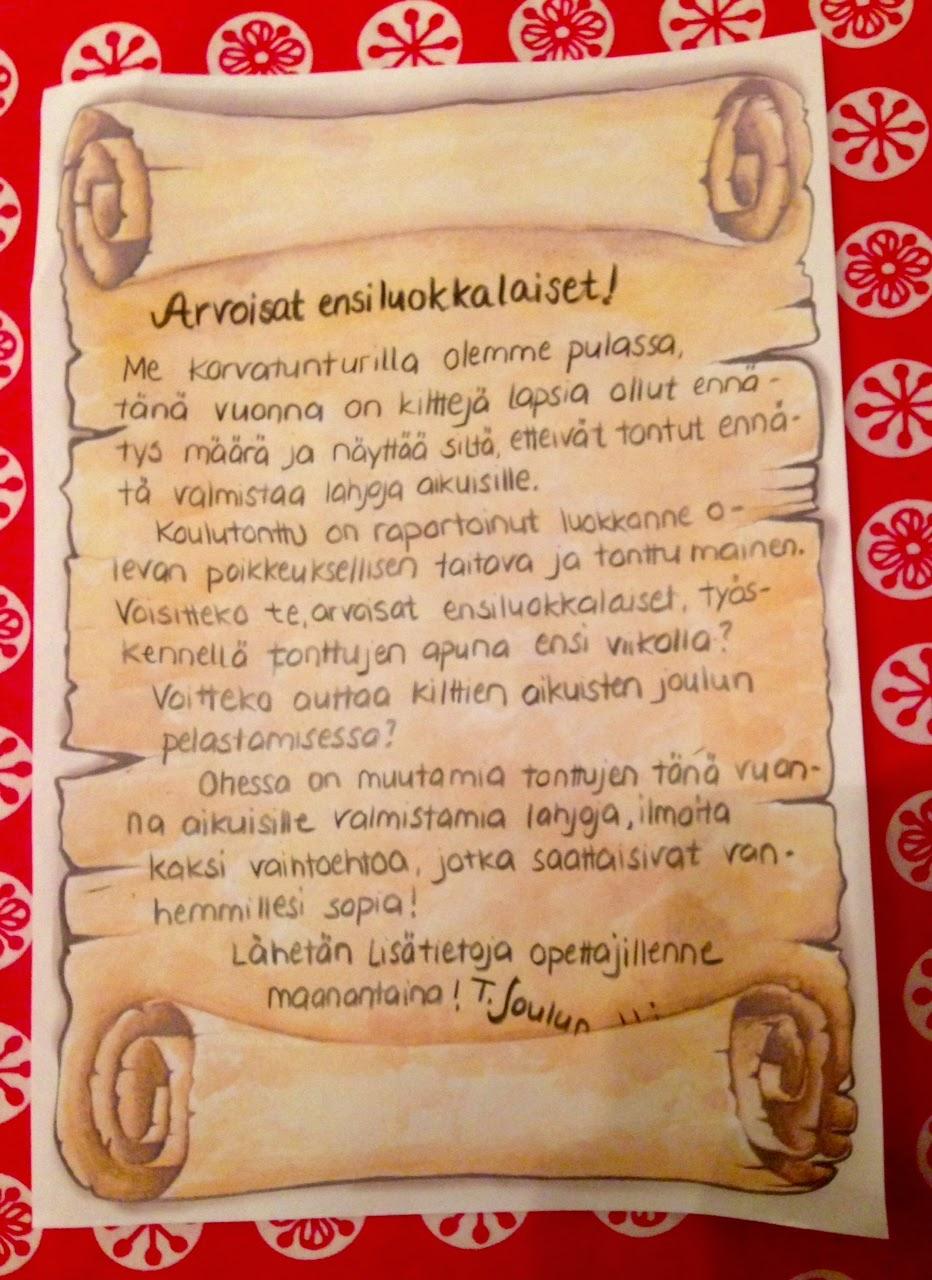 Joulupukin Kirje Lapsille