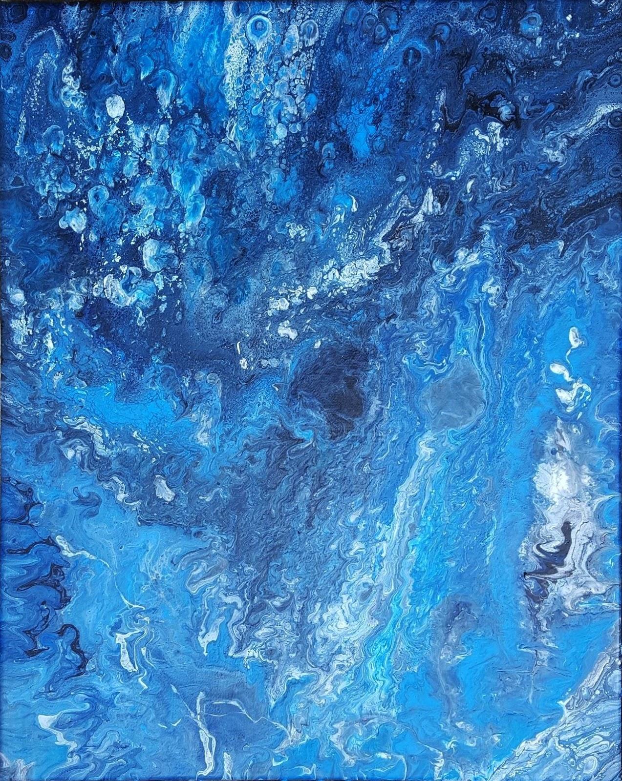 Blue Marble Blauer Marmor