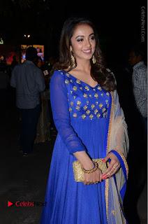 Telugu Actress Tejaswi Madivada Pos in Blue Long Dress at Nanna Nenu Na Boyfriends Audio Launch  0087.JPG