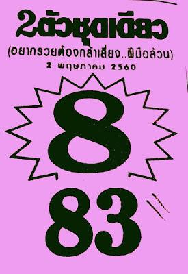 เลขเด่น  8  83