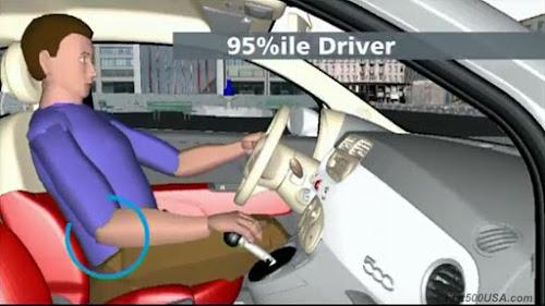 Fiat 500 Driver Shifter Reach