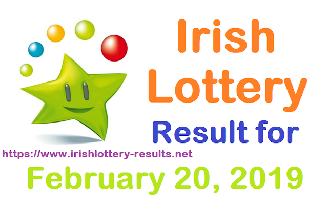 Irish Lottery Results for Wednesday, 20 February 2019