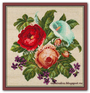 "Download embroidery scheme Rogoblen 7.18 ""Calla and Roses"""