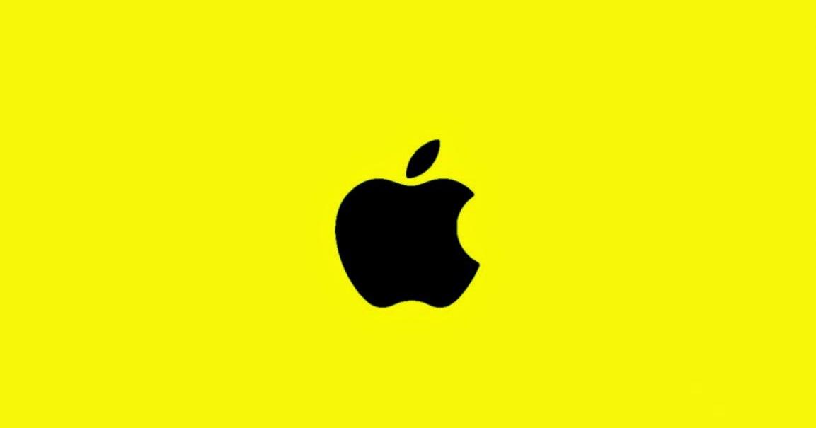 yellow apple logo - photo #24